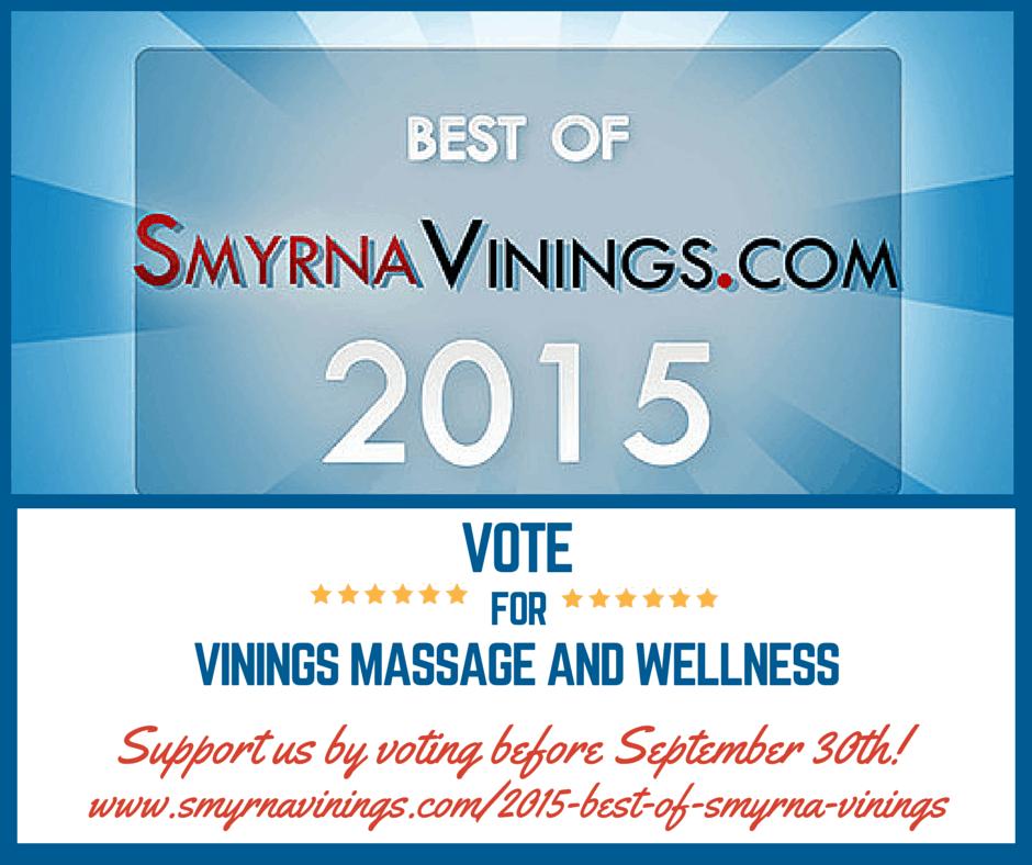 vote for vinings massage and wellness best of smyrna vinings 2015